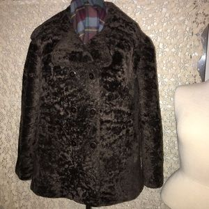 💯Persian Dyed Lamb Fur Vintage Coat